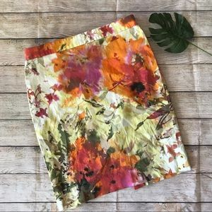 J. Crew Multicolor Floral Pencil Skirt Size 6